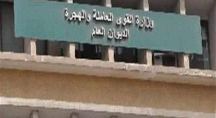 وزارة القوى العامله